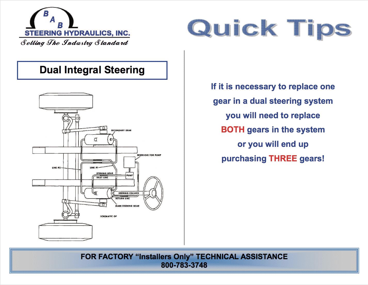 dual integral steering