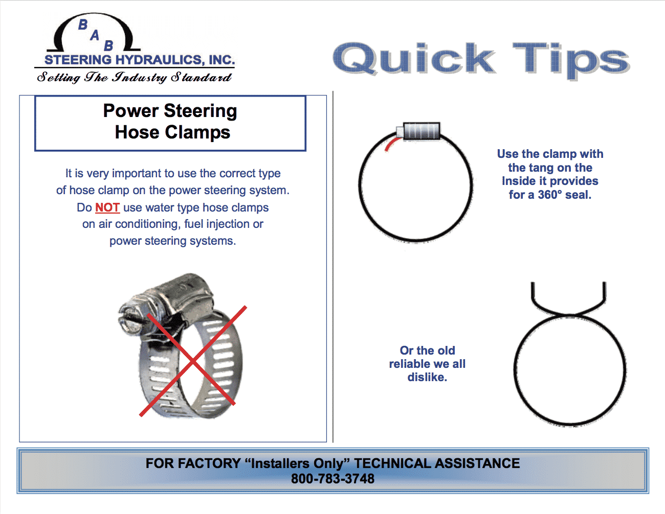 power steering hose clamps