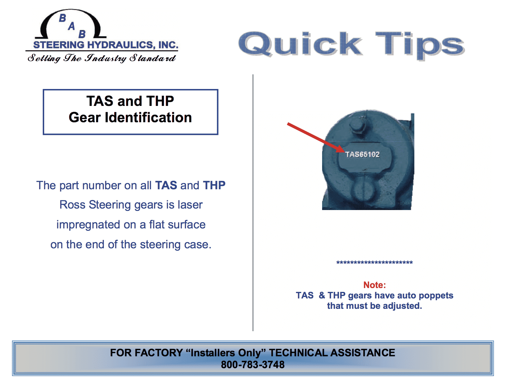 tas and thp gear identification